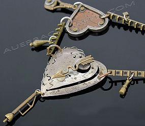 Thomas Mann Mixed Metals Post Modernist Necklace