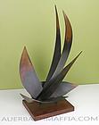 Homer Gunn Modernist Bronze Abstract Sculpture