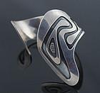 Modernist Sterling Silver Cuff Bracelet - 1950