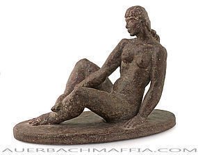 Robert Laurent Deco Moderne Reclining Nude France NYC