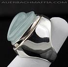 Burle Marx Modernist Sterling/Aquamarine Ring Brazil