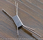 Betty Cooke Modernist Sterling & Wood expansive Brooch