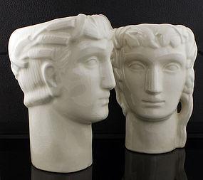Geza DeVegh Art Deco Classical Ceramic Heads 1930