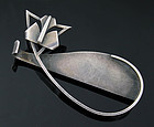 Paul Lobel Modernist Sterling Cat Brooch