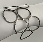 John Lewis Modernist Sterling Circle Bracelet Boston