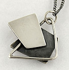 Bill Tendler Modernist Sterling Pendant Necklace - 1950