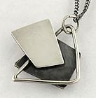 Bill Tendler Modernist Sterling Pendant Necklace - 1950