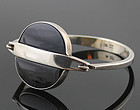 N.E.From Modernist Sterling and Onyx Bracelet Denmark
