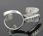 Henry Steig Modernist Sterling Cuff Bracelet 1950