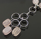 Silver and Rose Quartz Modernist Necklace - Germany