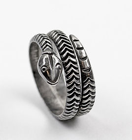 Antonio Reina Sterling Mexico Snake Ring - early Taxco Artisan