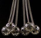 Liisa Vitali Modernist Sterling Orbs Necklace Finland 1970
