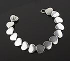Hans Hansen Modernist Heart Bracelet Denmark