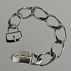 Friedrich Binder German Modernist Silver Buckle Bracelet