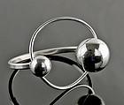 Uno A Erre Modernist Sterling Orbital Bracelet - Italy