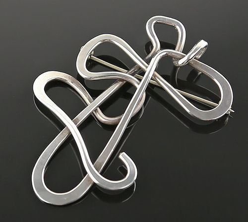 Henry Steig Modernist Sterling Abstract Brooch/Pendant - 1950