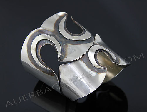 Art Smith Modernist Cuff Bracelet - Three Hole