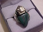 Rebajes Modernist Sterling Ring w/ Stones