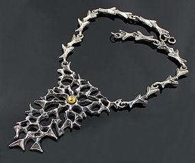 Robert Larin Sculptural Pewter Necklace - Canada
