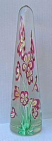 "Fratelli Toso Murano Art Glass Obelisk - 14 3/4"" Tall"