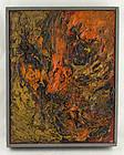 Albert Kotin Modernist Face Oil Painting