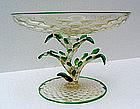 Murano Fratelli Toso Italian Glass Cactus Compote