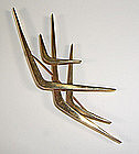 Ruth Berridge Modernist 14K Gold Brooch