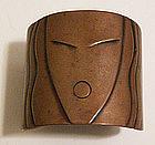 Rebajes Modernist Copper Deco Lady Face Cuff