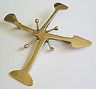 Early Ed Wiener Modernist Sterling Abstract Brooch