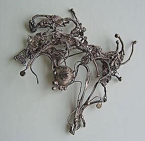 Marci Zelmanoff Twisted Silver Wire Brooch