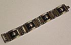 Los Castillo Modernist Mexican Sterling Bracelet
