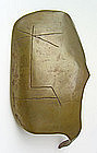 Joachim Themal Modernist Bronze Mask
