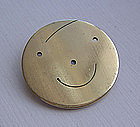 Peggy Miller Modernist Jewelry Brass Brooch