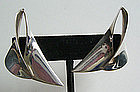 Ronald Pearson Modernist Sterling Silver Earrings