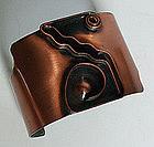 Rebajes Modernist Copper Geometric Deco Bracelet