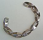 Uno A Erre Modernist Sterling Silver Bracelet - Italy