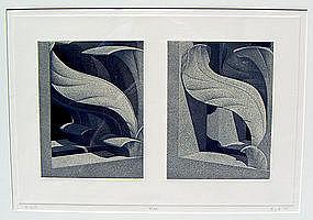 Hugh Kepets Architectural Post Modernist Print