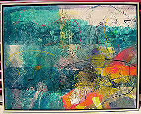 Mitch Lyons Abstract Clay Mono Print