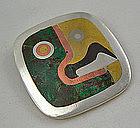 Los Castillo Parrot Brooch - Mexico Sterling & Stone