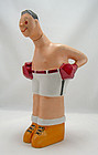 Limoges Art Deco Porcelain Boxer Decanter