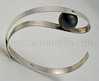 Betty Cooke Modernist Sterling Onyx and Gold Bracelet