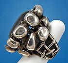 Rachel Gera Modernist Jewelry Sterling Ring - Israel