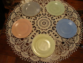 Moderntone Little Hostess plates by Hazel Atlas
