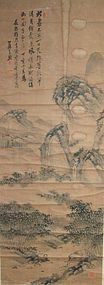 Chinese classical antique landscape painting scroll