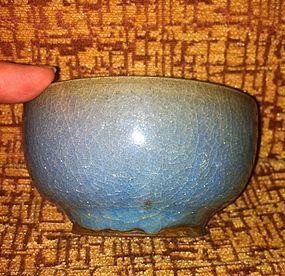 Chinese junyao purple-splashed lavender-blue bowl