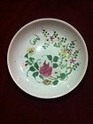 Qing Polychrome famille rose dish