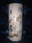 Chinese late Qing hat vase
