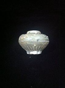 Chinese Green glaze Five Dynasties era celadon mini jar