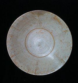 Chinese Ying Ching Qingbai glaze Song period big plate