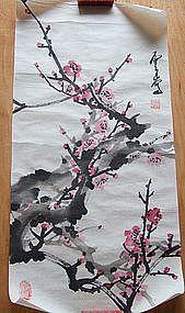 Chinese Brush Art Painting of Plum Blossoms